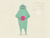 Monster Mash Dribbble Monster