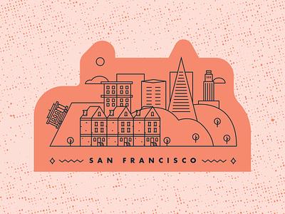 San Francisco CA | Sticker Warm-Up illustration sticker san francisco design
