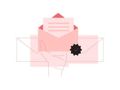 E-Mail Support nuna help support email product branding illustraion