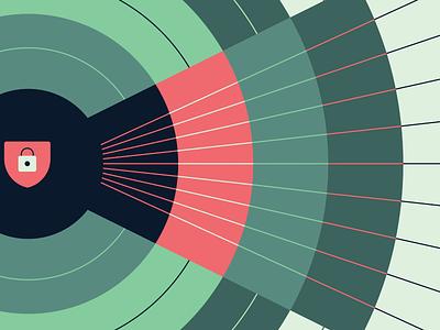 Data Lifeline | Blog Illustration medicare medicaid branding visual art healthcare illustration security data