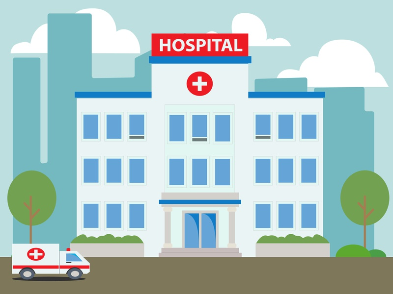 Simple Hospital building design hospital icon hospital building icon building simple illustration flat illustration flat illustration flat design design 2d
