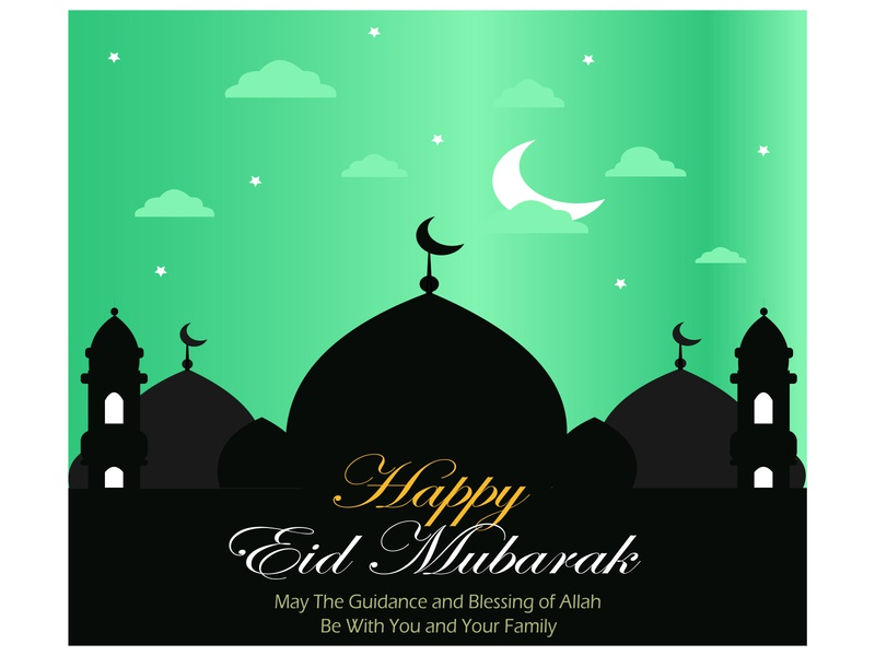 Happy Eid Mubarak masjid islamic design islamic islam poster design poster background simple illustration flat illustration flat illustration flat design design 2d