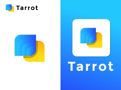 Apps logo design - Modern abstract logo design gradient logo brand logo design initial letter logo abstract logo modern logo blue yellow logo trends 2021 gradient elegant design minimalist logo apps logo 3d logo brand identity logo trends branding
