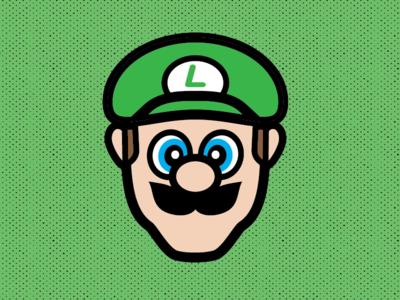 Luigi flat design illustrator vector nintendo luigi