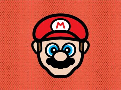 Mario illustrator flat design vector nintendo mario