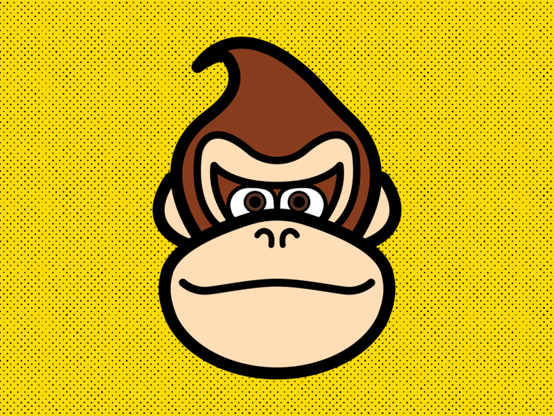 Donkey Kong illustrator nintendo flat design