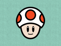 Toad vector nintendo illustrator flat design