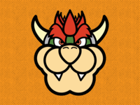 Bowser vector nintendo illustrator flat design