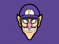 Waluigi waluigui illustration vector illustrator