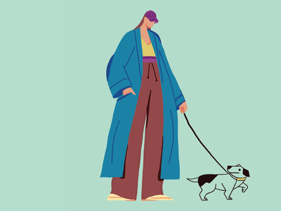 Taking my dog out for a walk is my favourite thing to do! pro create ui ux illustrations design ui minimal illustration artwork adobe illustrator