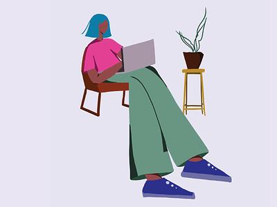 Looking for quarantine work from home hacks! branding ui illustrations minimal design illustration artwork