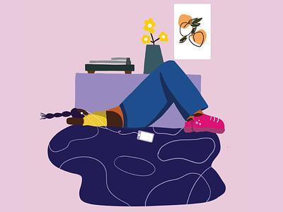 Music is my refuge! minimal branding ui illustrations flat design adobe illustrator illustration artwork