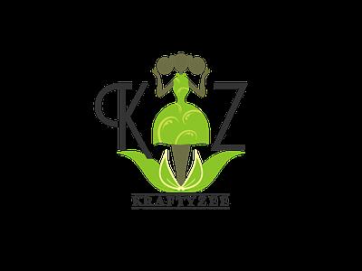 KraftyZee Logo Journey typography creative design creative website minimalist designer vector minimal logo graphic design design branding