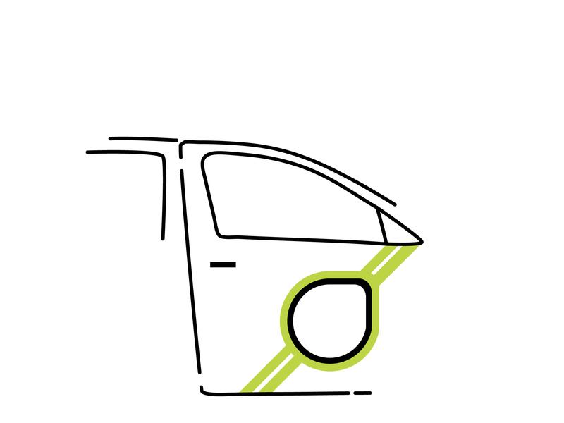 The Dublin Taxi digital lineart illustration design ireland dublin
