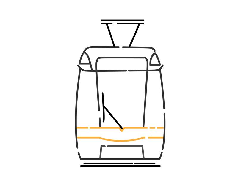 Dublin Tram / Luas luas illustration ireland dublin