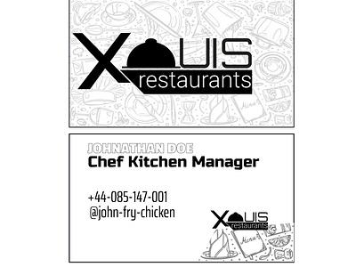 Exquis Restqurant Business card inspiration business card design business card