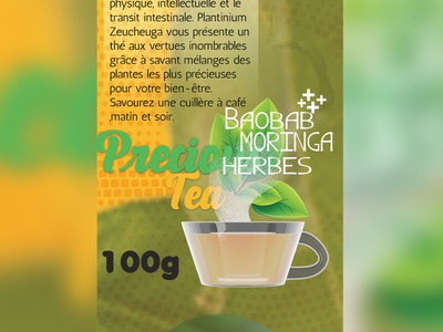 Precious Tea product-label product-design brand identity packaging branding