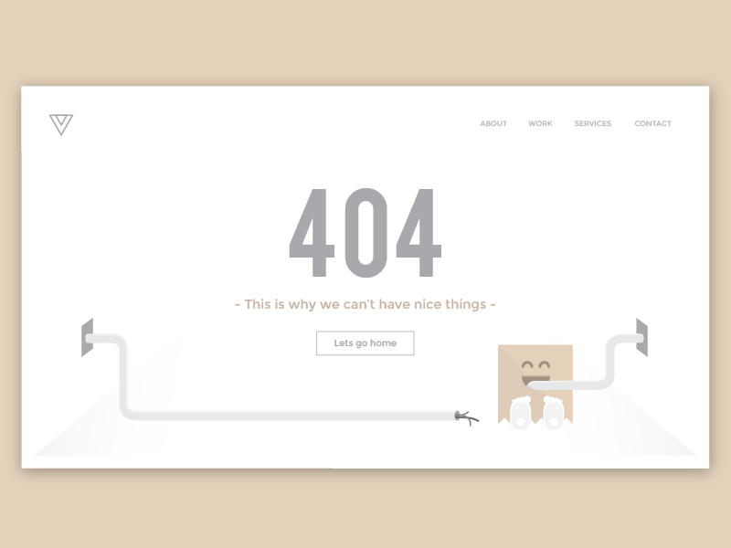 404 Page flat first shot ui monster debut illustrator 404 page