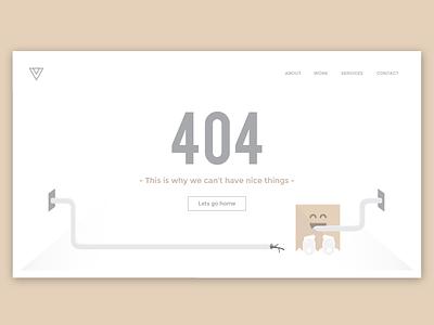 404 Page flat first shot ui monster debut illustrator 404 page
