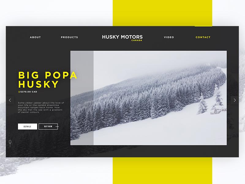 Husky Motors [WIP] hero motor landing page