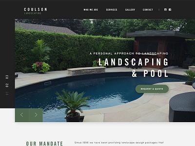 Coulson Landscaping Landing Page slider landscaping landing page design