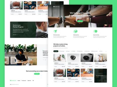 Backercamp - Homepage