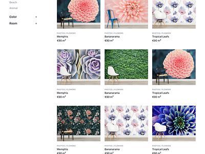 Wallpaper Store design store black white sf minimal grid wallpaper ecommerce significa ux ui