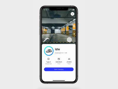 EV charging station app for oneCharge product design electric car vehicle charging station charging charge tesla ev prototype motion minimal mobile flat app clean interface ux ui