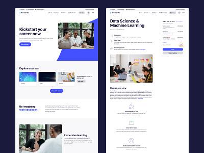 Education rebrand online learning school logo class course education icon branding web minimal flat clean interface ux ui