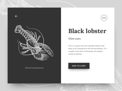 Selling rare black lobster for 100m