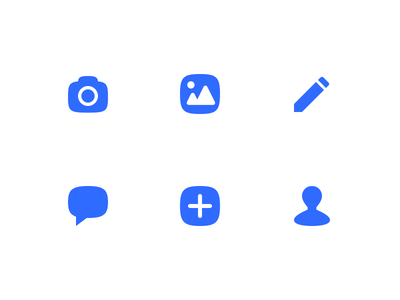 Squircle Icons media edit image camera forum messaging chat icon squircle