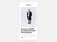 HYPEBEAST article and comments transition
