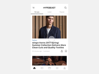 HYPEBEAST personalized feed
