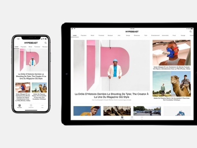HYPEBEAST mobile redesign hypebeast culture streetwear editorial news apparel color interaction fashion ecommerce minimal design mobile flat app interface clean ux ui