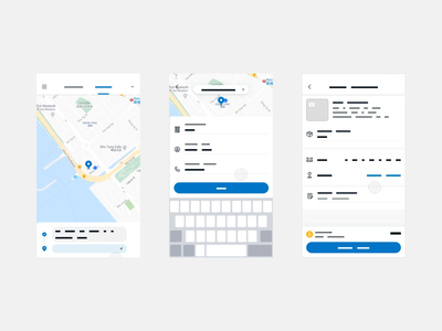 Order flow transition exploration map form transport logistics delivery transition motion wireframe minimal flat mobile clean app ux interface ui