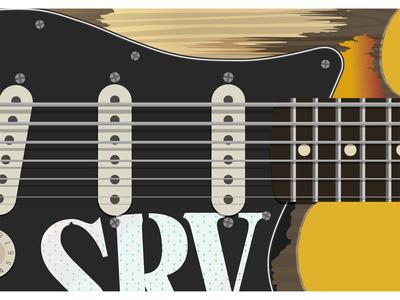 Famous guitars series - SRV music rock blues guitar debut strings srv vaughan stratocaster pickguard famous