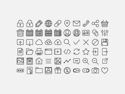 Web Icons Set pack ui web set icon