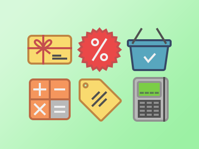 E-commerce & shopping shopping commerce set icon