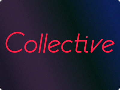 Collective logo letter type graphic identity logo lettering