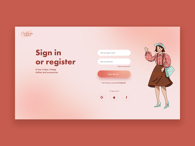 Log in page concept figma concept illustration website web ux ui design
