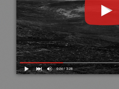 Freebie: The new YouTube player PSD by Alex Talmon - Dribbble