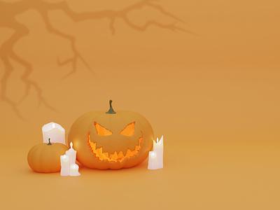 Halloween 3d illustration blender3d design 3d иллюстрация halloween