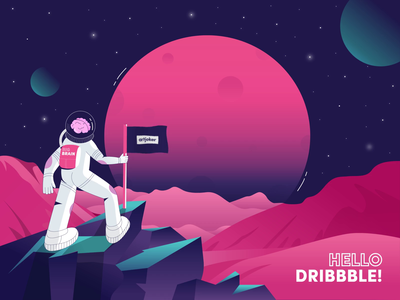 Dribbble first shot app vector logo graphic design minimal typography веб-дизайн uiux mobile web website branding ui illustration design