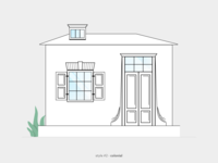 Illustration - Architecture Series - Style #2 Colonial