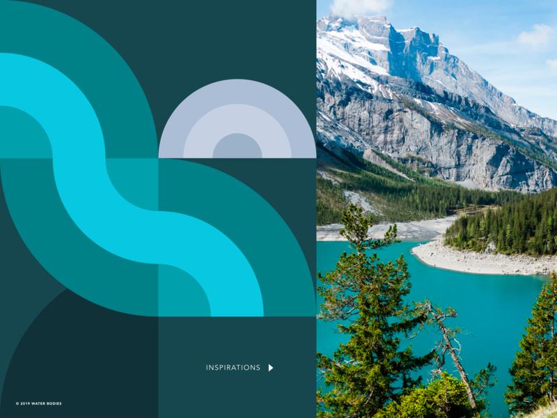 Geometric Illustration + Moodboard nature environment water geometric geometric illustration