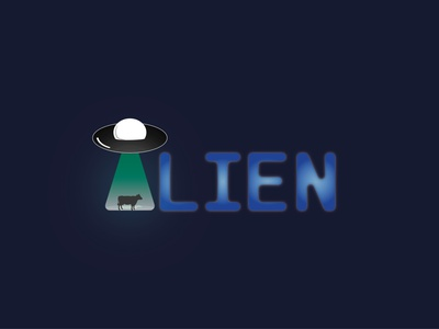 Alien design typography vector logo illustration