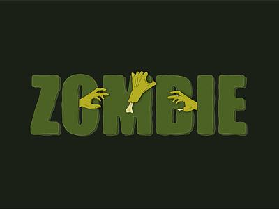 ZOMBIE vector logo typography illustration design