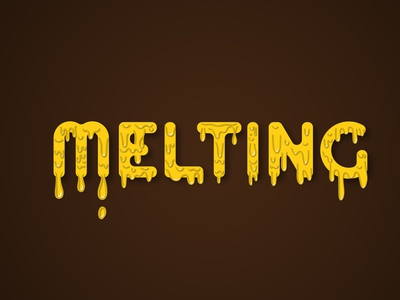 Metling illustrator vector typography logo illustration design