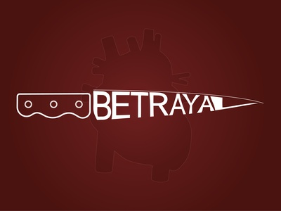 Betrayal illustrator vector typography logo illustration design