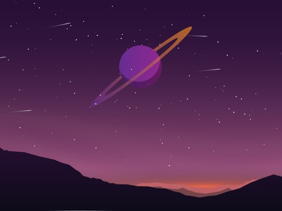Night landscape minimal illustrator vector illustration design